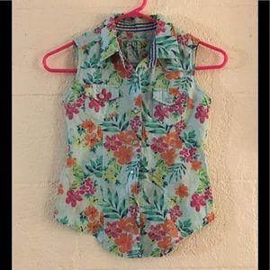 Girls Size S 7/8 Guess Sleeveless Collar Top